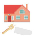 flat of a house for sale rental of vector image