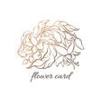 floral symbol nature label vector image