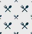Fork and spoon crosswise Cutlery Eat icon sign vector image vector image