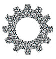 gearwheel mosaic of boss icons vector image