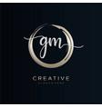 gm initial handwriting logo template vector image vector image