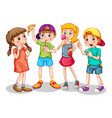 group young children cartoon character on vector image vector image