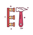 hammer labor nails icon design vector image