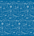 hand drawn pattern with sea background vector image vector image