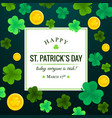 happy st patricks day invitation vector image vector image