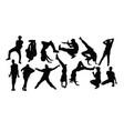 hip hop dance vector image vector image