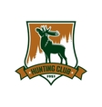 Hunting sport club badge or emblem vector image vector image