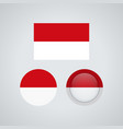 indonesian trio flags vector image