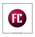 initial letter logo fc template design vector image vector image