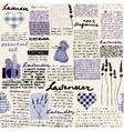 Lavender newspaper background vector image vector image