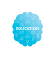 line icons in brain shape education vector image