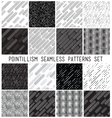 lineal geometric seamless patterns set vector image