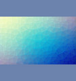 low poly background of triangles in blue colors vector image vector image