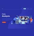 modern flat design concept big data analysis vector image vector image