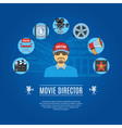 Movie Director Concept vector image