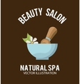 natural spa design vector image vector image