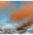 Orange sunset detail vector image vector image