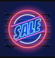 retro sale neon sign las vegas concept vector image