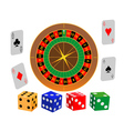 roulette game vector image vector image