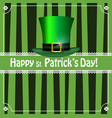saint patricks day striped greeting card with vector image vector image