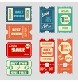 Sale tickets collection vector image vector image