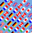 Seamless pattern flag g7 vector image vector image