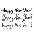 set inscriptions happy new year in handwriting vector image vector image