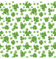 shamrock texture clover seamless pattern vector image vector image