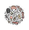 sport activities symbols vector image
