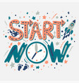 success secret - start now vector image