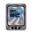 tablet website page digital online app vector image vector image