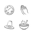 thanksgiving day outline icons vector image vector image