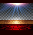 theater wooden stage with a spotlight on a vector image vector image