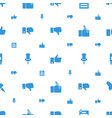 thumb icons pattern seamless white background vector image vector image