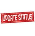 update status grunge rubber stamp vector image