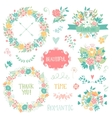 Wedding vintage elements collection vector image vector image