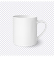 white coffee cup realistic isolated on vector image vector image