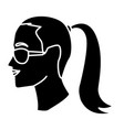 Woman head witn sunglasses