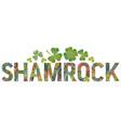 word shamrock decorative zentangle object vector image