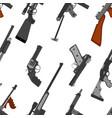 pattern of guns machine gun rifle revolver pistol vector image