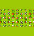 abstract green monster eye seamless pattern vector image vector image