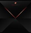 abstract modern technology concept black polygon vector image vector image