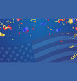 background banner for 4th july independence day vector image vector image