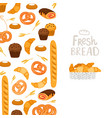 bakery banner template pastry fresh bread vector image