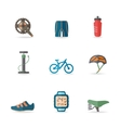 Bike Icons Flat vector image vector image