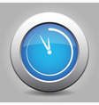 blue metal button with last minute clock vector image vector image