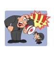 Boss yelling at his worker 2 vector image vector image
