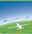 bucharest skyline flight destination vector image vector image