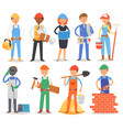 builder constructor people character vector image