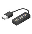cable usb hub icon isometric style